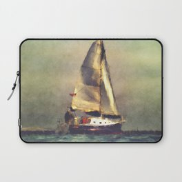 A Sailboat At Sea Laptop Sleeve