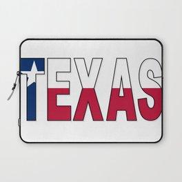Texas Text Flag Laptop Sleeve
