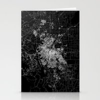 denver Stationery Cards featuring Denver map by Line Line Lines