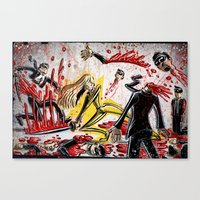 kill bill Canvas Prints featuring Kill Bill by Joe Badon