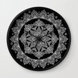 Lotus Dreams Mandala Wall Clock