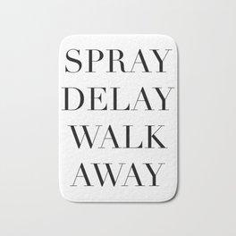 Spray Delay Walk Away,Queer Eye,Fab Five,Jonathan,Perfume,Cologne,Fragrance,Typography Quote Printab Bath Mat
