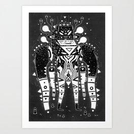 muscle jerk Art Print