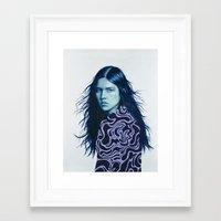 luna Framed Art Prints featuring Luna by Amanda Mocci