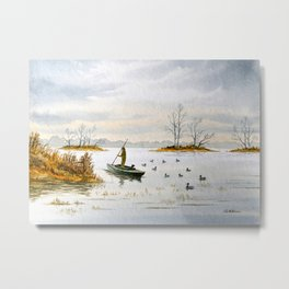 Duck Hunting - The Island Duck Blind Metal Print