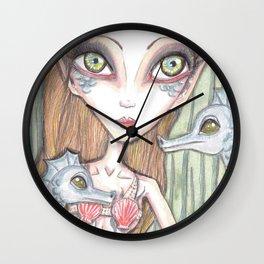 Mermaid and seahorse Wall Clock