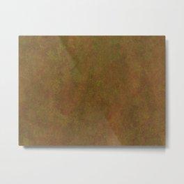 Old yellow rusty brown Metal Print