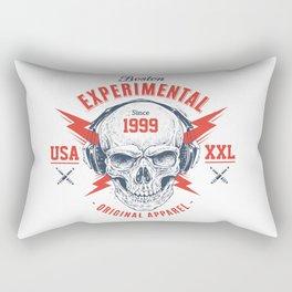 bad skull Rectangular Pillow