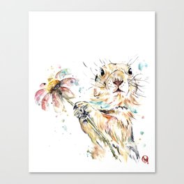 Gopher Colorful Watercolor Painting Canvas Print