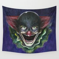 clown Wall Tapestries featuring Clown by kaieng.teba