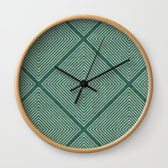 Stitched Diamond Geo Grid in Green by beckybailey1