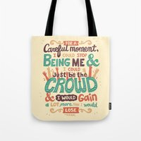 it crowd Tote Bags featuring Crowd by Risa Rodil