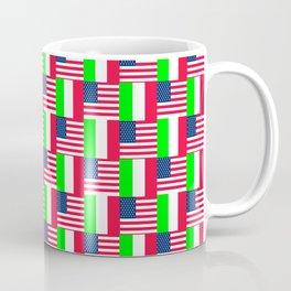 Mix of flag: Usa and Italy Coffee Mug