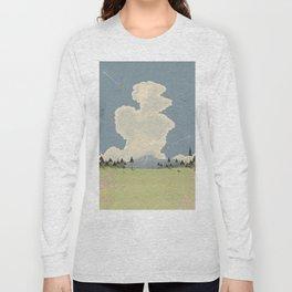 Mountain Landscape cartoon vista. Long Sleeve T-shirt
