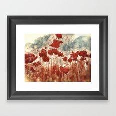Campo de amapolas Framed Art Print