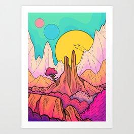 The 3 suns of Venus Art Print