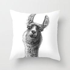 Cute Llama G135 Throw Pillow