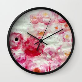 Flowers Flowers everywhere Part1 Wall Clock