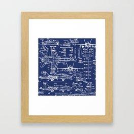 F-18 Blueprints Framed Art Print