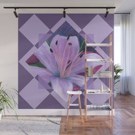 Lavenders and Diamonds Wall Mural