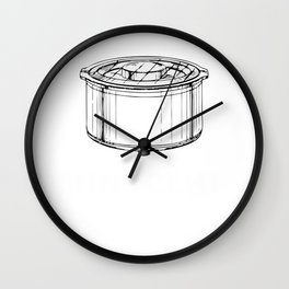 The Crockpot was Innocent - Jack's Crockpot Slow Cooker Wall Clock