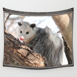 North American Opossum in Winter Wall Tapestry