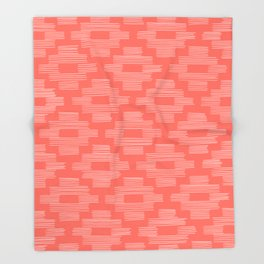Coral Birdseye Pattern Throw Blanket