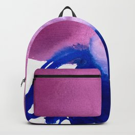 when blue surrenders to pink Backpack