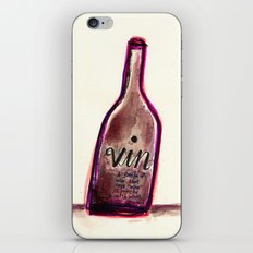 """Vin - A Bottle of Wine That Says """"Wine"""" (& Painted with Wine) iPhone & iPod Skin"""