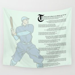 Casey at the Bat Wall Tapestry