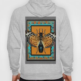 CONTEMPORARY  BUTTERFLY GREY STAG-HORNED BEETLES Hoody