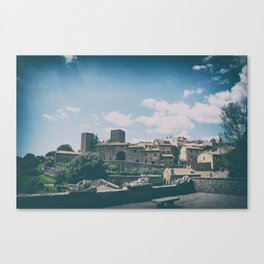 Tuscania medieval village in summer Canvas Print