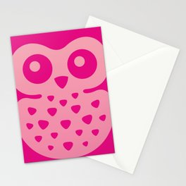 Cute Pink Baby Owl Stationery Cards