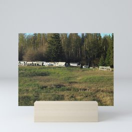 Katlodeeche First Nation or Dene burial site Mini Art Print