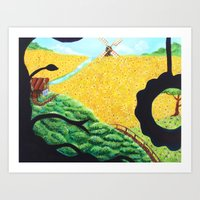 Sunny Fields Art Print