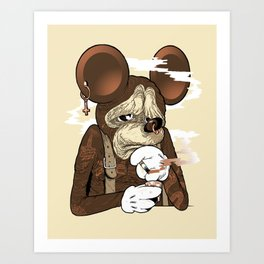 Mickey 3: Depression Art Print