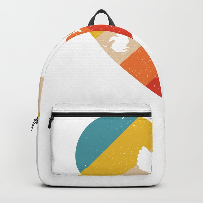 Retro Chicken Love print Funny gift for chicken lovers Backpack