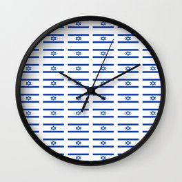 flag of israel 2 -יִשְׂרָאֵל ,israeli,Herzl,Jerusalem,Hebrew,Judaism,jew,David,Salomon. Wall Clock
