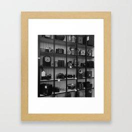 Cameras in a Thrift Store Framed Art Print