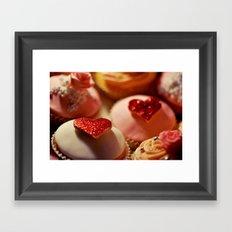 heart cupcakes Framed Art Print