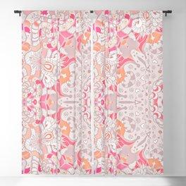 BOHO SUMMER JOURNEY MANDALA - PASTEL ROSE PINK Blackout Curtain