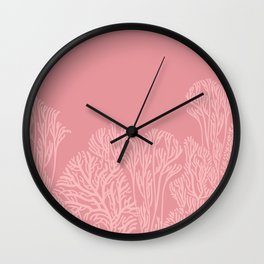 Dusty Pink Coral Garden Wall Clock