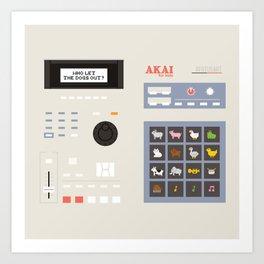 Akai mpc for kids Art Print