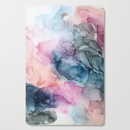 Heavenly Pastels: Original Abstract Ink Painting Cutting Board