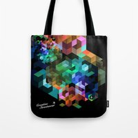 tetris Tote Bags featuring TETRIS by Creative Streetwear