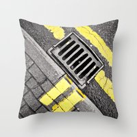grid Throw Pillows featuring Grid by PRE Media