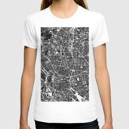 Madrid city map black&white T-shirt
