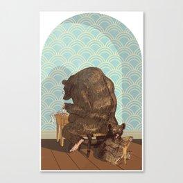 Tax Bear Canvas Print