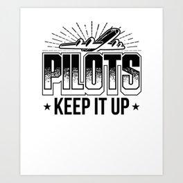 Pilot T-shirt for Aviation & Airplane Lovers Art Print