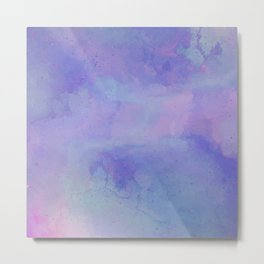 Watercolour Galaxy - Purple Speckled Sky Metal Print